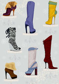 High boots — Stock Vector