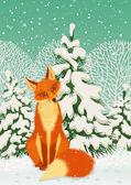红狐狸 — 图库矢量图片