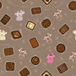 Background with chocolate candies - Stock Vector