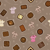 Background with chocolate candies — Stock Vector