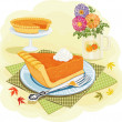 Pumpkin pie - Stock Vector