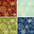 Snowflakes backgrounds — Stok Vektör