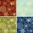 ストックベクタ: Snowflakes backgrounds