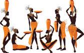African women — Stock Vector
