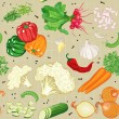 Vegetables mix - Vettoriali Stock