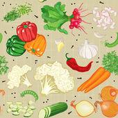 Vegetables mix — Stock Vector