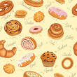 Stock Vector: Bakery background