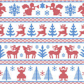 Knitted christmas background — Stock Vector