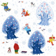 Winter fun background — Stock Vector