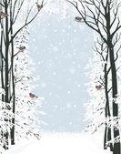 Winter frame — Stock Vector