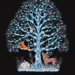 Blue tree — Stock Vector