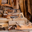 Stock Photo: Old rusty woodworking tools