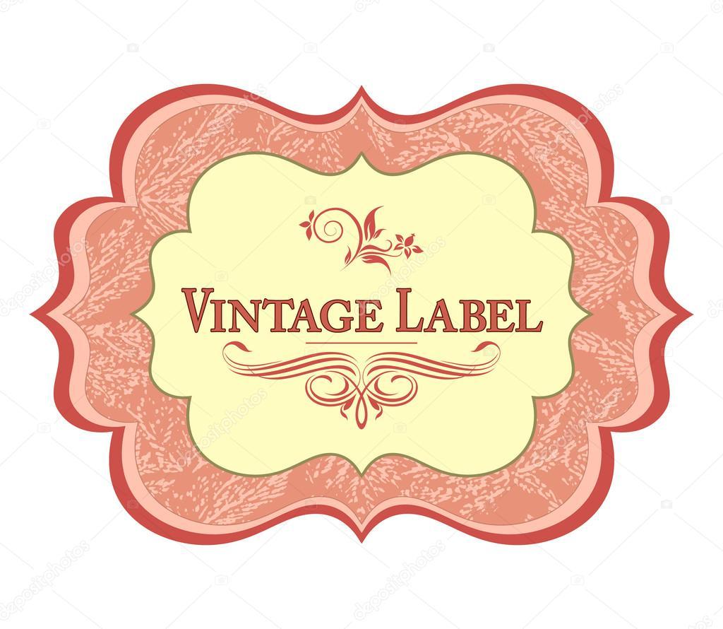 Vintage Label — Stock Vector © MariStep #12553207 - 1024x890 - jpeg