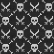 Royalty-Free Stock Vector Image: Knitted background with skulls