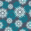 Seamless vector snowflakes — Stock Vector