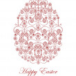 Decorative greeting card with easter egg - Stock Vector