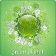 The Green Planet — Stock Vector