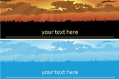 Set of backgrounds (banners) — Stock Vector