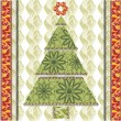 Stylized lace christmas tree.Vector - Stock Vector
