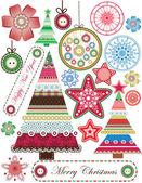 рождество и новый год бесшовный фон — Cтоковый вектор
