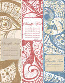 Set of three vintage banners — Stock Vector