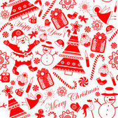 Seamless Collection Stylized Christmas Elements — Stock Vector