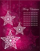 Burgundy pink snowflakes — Stock Vector