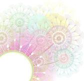 Background with dandelions — Stock Vector