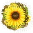 Royalty-Free Stock Vector Image: Vector floral background with sunflower