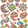 Royalty-Free Stock Vector Image: Set of ornamental Floral Paisley elements for design