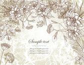 Romantic retro floral background — Stock Vector