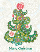 Abstract Christmas tree — Stockvector