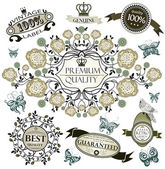 Guarantee and Premium Quality Labels — Stock Vector