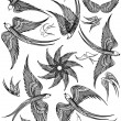 Vector set of Swallows - Imagen vectorial