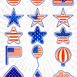 Vector object set of 4th July Independence day. EPS 10 — Stock Vector #25855407
