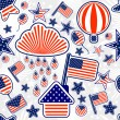 Seamless pattern of Independence Day USA — Stock Vector