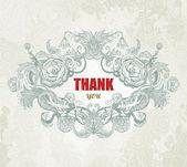 Vintage Card - Thank You. Vector, EPS10 — Stock Vector