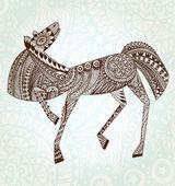 Ornaments Horse. EPS 10 — Stock Vector