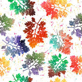 Seamless pattern with colored leaves. Vector. — Stock Vector