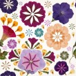 Seamless pattern with flowers. Vector, EPS10. — Stock Vector