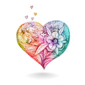 Abstract colorful heart. Vector, EPS 10 — 图库矢量图片