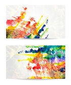 Vector set of watercolor backgrounds. EPS 10 — Stock Vector