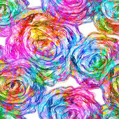 Seamless Roses Pattern. Vector, EPS 10 — Cтоковый вектор