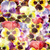 Seamless pattern pansy flowers. Vector, EPS10 — Stock Vector