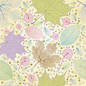 Seamless autumn leaves pattern. — Stockvektor
