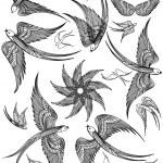 Vector set of Swallows. — Stock Vector #45119797
