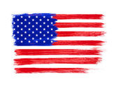 American Flag vector. Independence Day, 4 th July. — Stock Vector