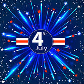 Independence Day - 4 th July. EPS 10 — Stock Vector