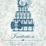 Elegant invitation with cake. Vector, EPS 10 — Stock Vector #45172149