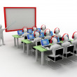3d man in classroom — Stock Photo